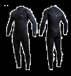 O'Neill Hyperfreak 5/4+ Chest Zip Wetsuit (Black/Abyss) - Wetndry Boardsports