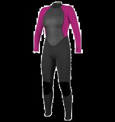 O'Neill Womens Reactor II 3/2mm Wetsuit (Black/Berry)