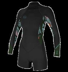 O'Neill Womens Bahia L/S Spring Wetsuit (Baylen/Dark Olive)