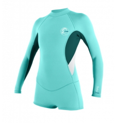 O'neill Womens Bahia L/S Short Spring Wetsuit (Seaglass/Teal)