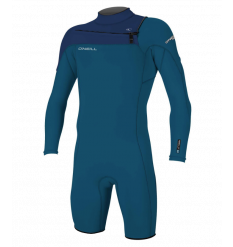 O'Neill Hammer 2mm Long Arm Shorty Wetsuit (Bright Blue/Navy)