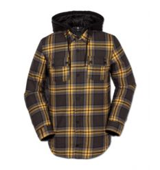 Volcom Field Insulated Flannel (Vintage Black)