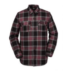 Volcom Sherpa Flannel Jacket (Red)