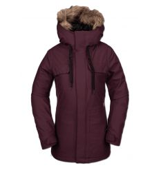 Volcom Womens Shadow Insulated Jacket (Merlot) - Wetndry Boardsports