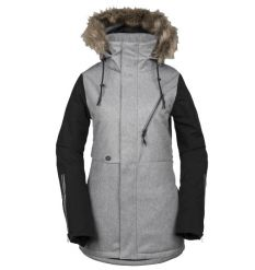 Volcom Womens Fawn Insulated Snowboard Jacket 2019 (Heather Grey) - Wetndry Boardsports