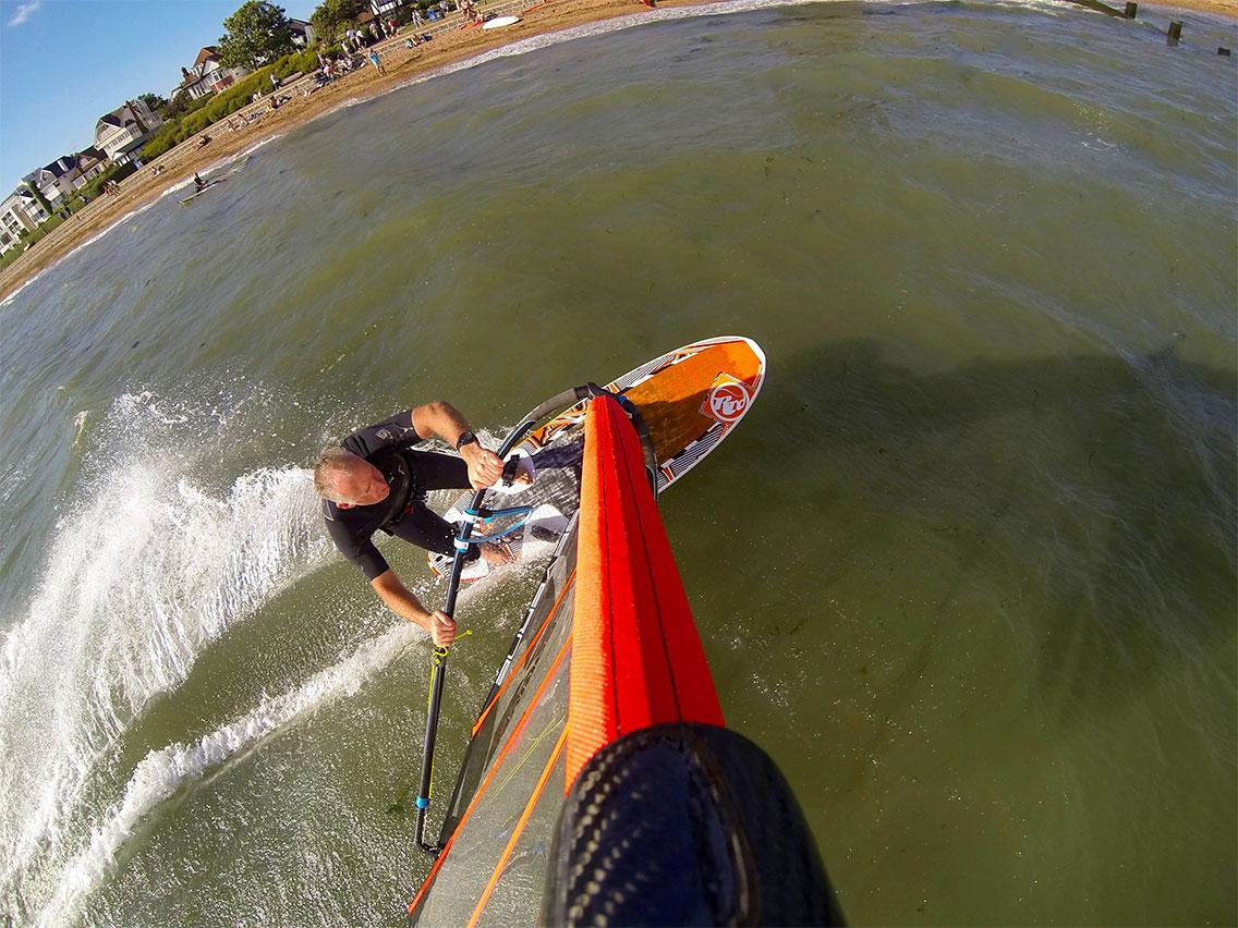 Jamie Windsurfing