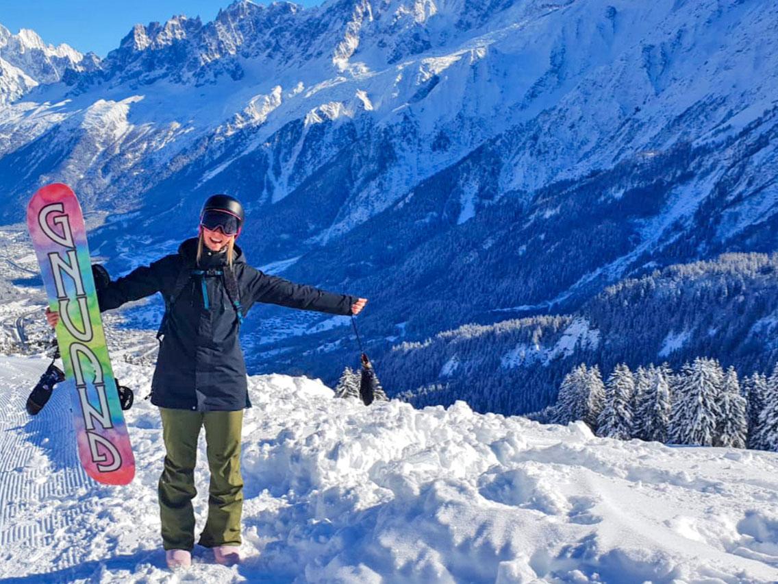 Hannah Snowboarding