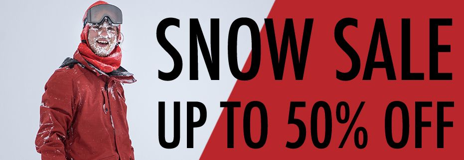 snow sale 50% off