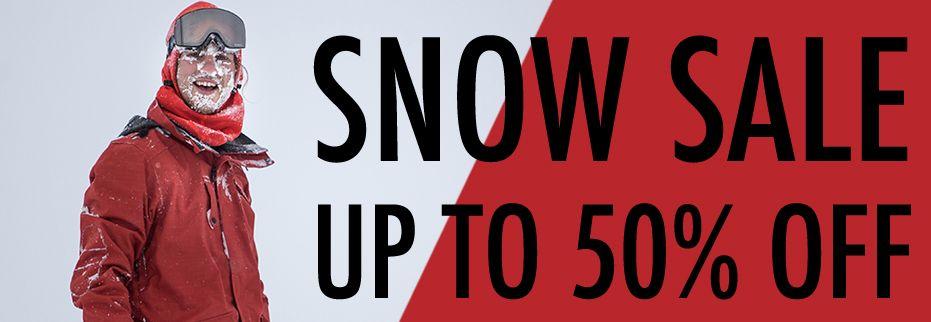 snow sale 50% off