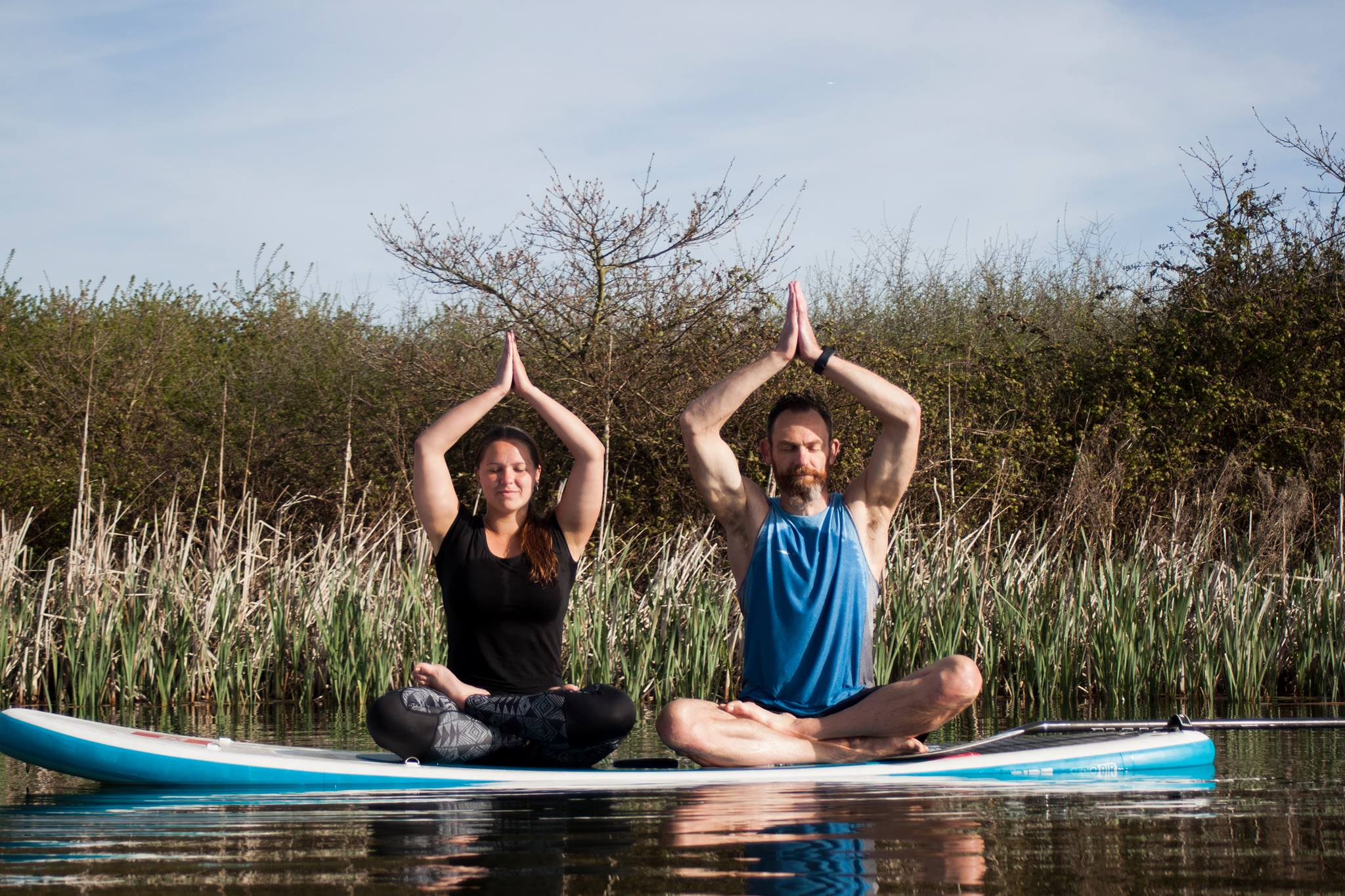 Learn Yoga on a Paddleboard