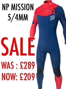 NP Mission Front Zip Wetsuit 5/4/3mm 2016 (Navy/Red)