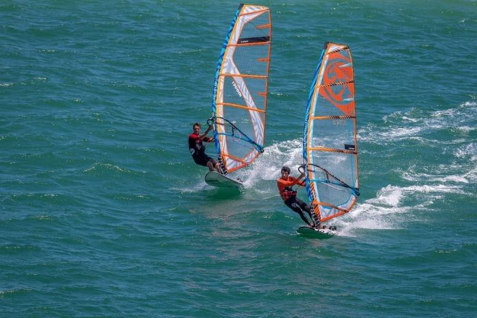 RRD Firemove LTD V3 Windsurf Board - Action Shot for website