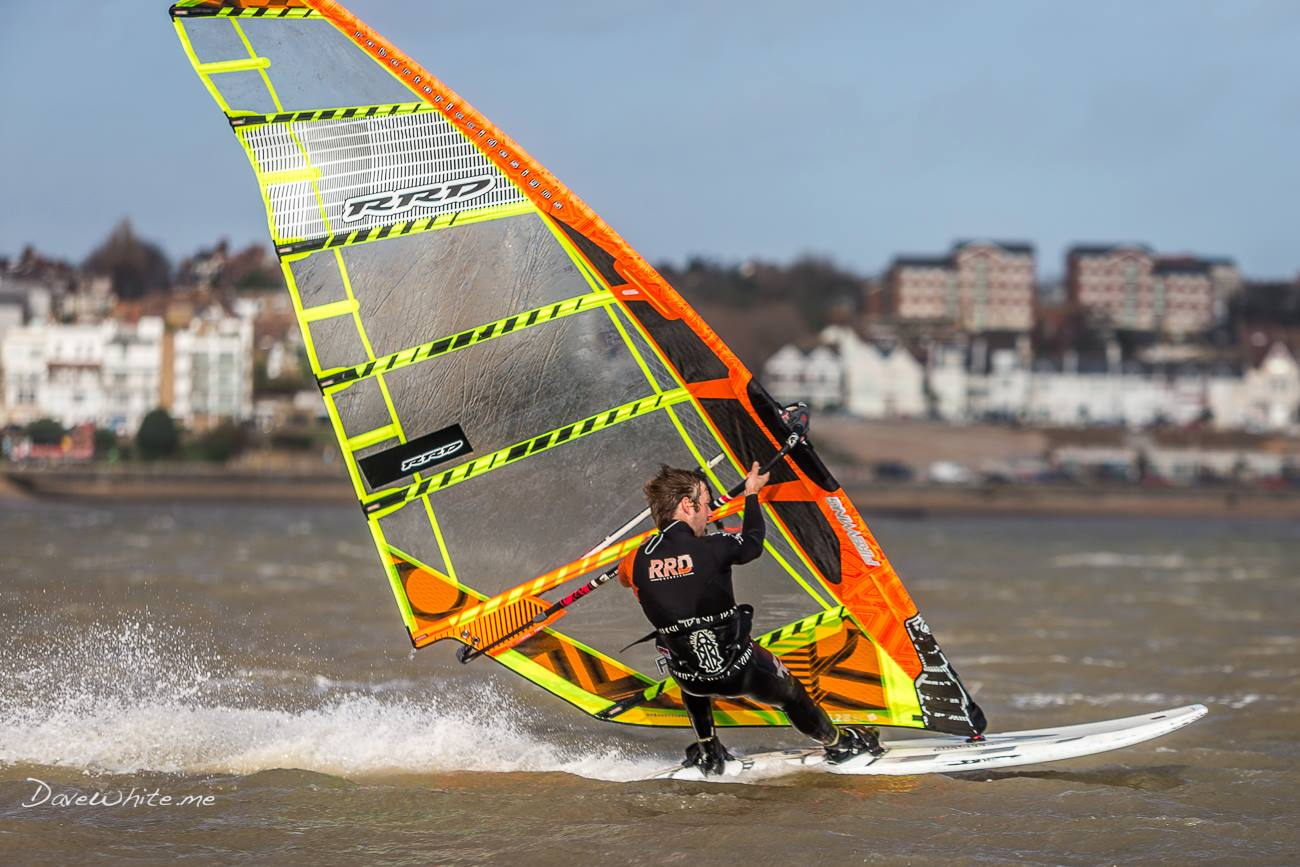 Windsurfing in the Ray Southend on Sea