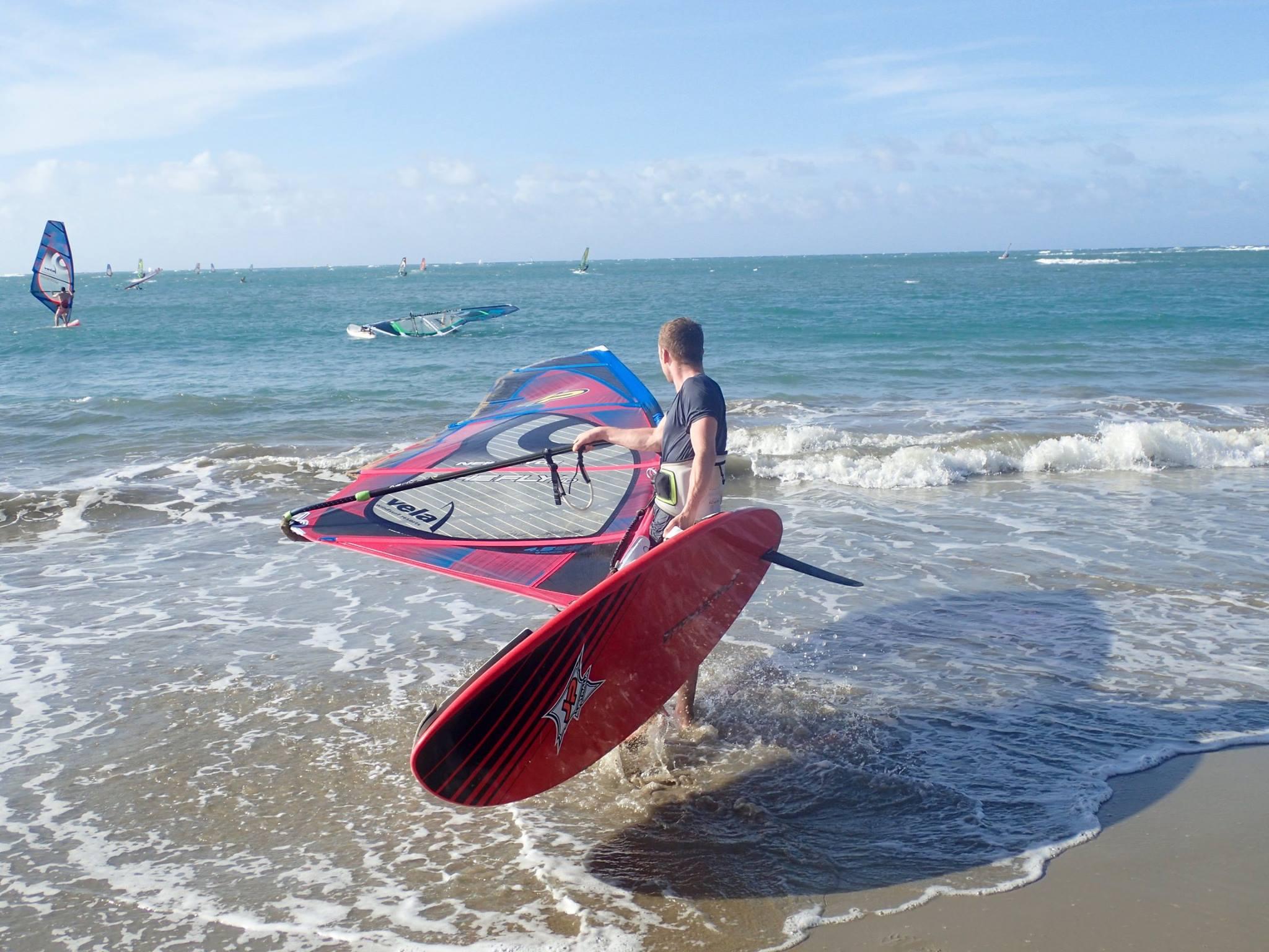 Nathan Windsurfing
